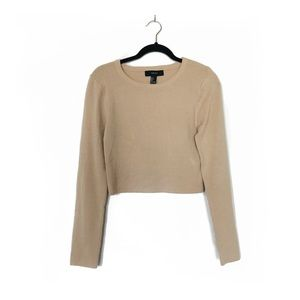 NWT Forever 21 Tan Cropped Thin Sweater